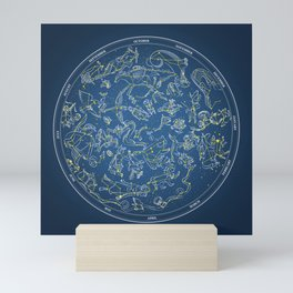 Constellations of the Northern Sky - Negative version Mini Art Print