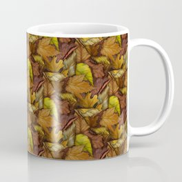Painted Autumn Leaves Coffee Mug