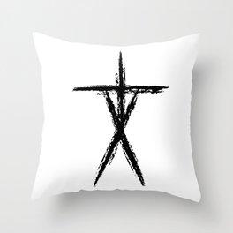 Blair Witch Stick Figure Throw Pillow