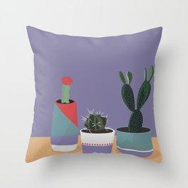 cacti colorblock Throw Pillow