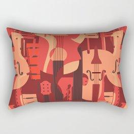 String Music Instrument Pattern Rectangular Pillow
