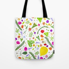 Leaves and flowers (9) Tote Bag