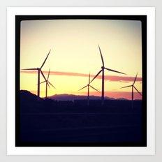 Wind Farms Art Print