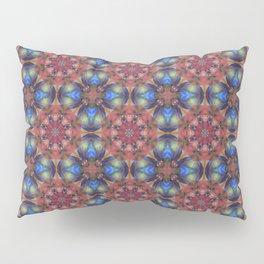 Multicolored Geo Rainbow Cheque Effect Pattern Pillow Sham