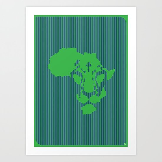 Afriking Art Print