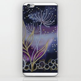 Purple Space Flowers iPhone Skin