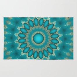 Turquoise Jewels Rug