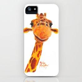 Nosey Giraffe ' MaDGe ' by Shirley MacArthur iPhone Case