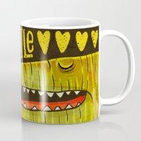 crocodile Mugs featuring Crocodile by Lime