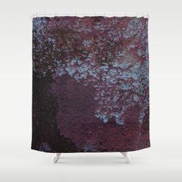 Rough purple wall Shower Curtain