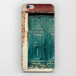 Turquoise Door in Venice iPhone Skin