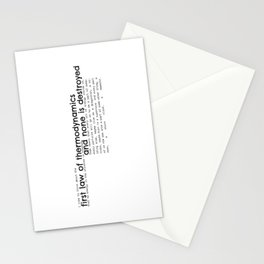 First Law of Thermodynamics Stationery Cards