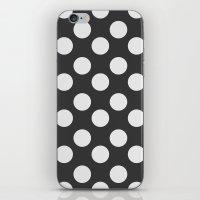 polka dots iPhone & iPod Skins featuring Polka Dots by Nobu Design