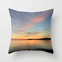 Ocean Calm VII Throw Pillow