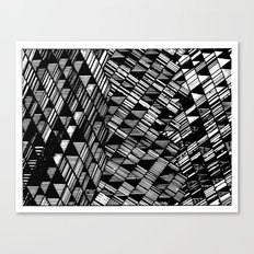 Moving Panes Black & White Canvas Print