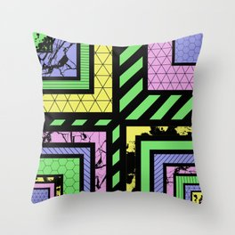 Pastel Corners (Abstract, geometric, textured designs) Throw Pillow