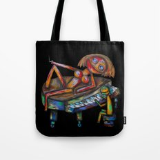 Every morning Jack plays the piano! Tote Bag