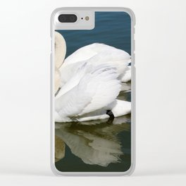 Synchronized Swans Clear iPhone Case