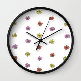 Multicolor Mini Daisies Wall Clock