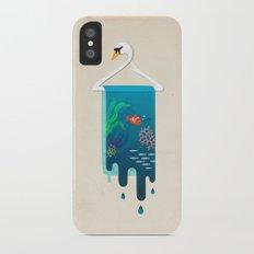 Swan Hanger iPhone X Slim Case