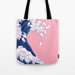 Llama Waves in Pink Tote Bag