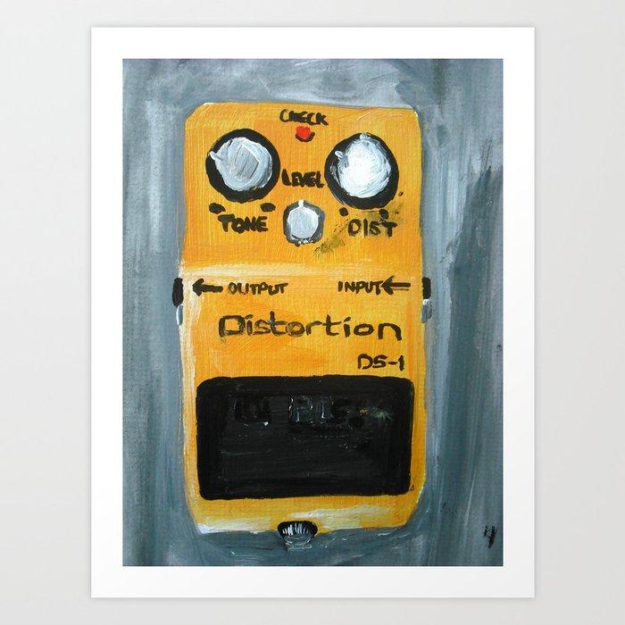 Guitar Pedal Boss DS1 Alternative Acrylic On Canvas Art Print by ...