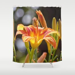 Lilies in the Sunshine Shower Curtain