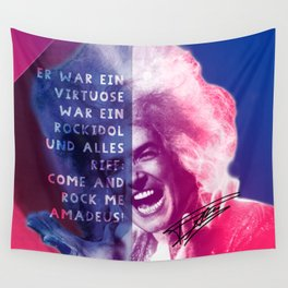 Rock Me Amadeus Wall Tapestry