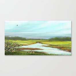 Wild Roses on a Field Canvas Print