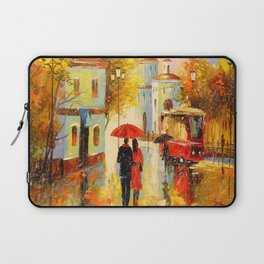 Rain in the city of love Laptop Sleeve