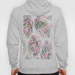 Modern tropical pink gold palm tree floral Hoody