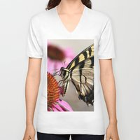 elegant V-neck T-shirts featuring Elegant by IowaShots