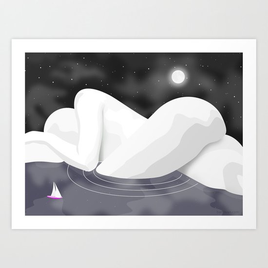 Nudescape 01 Art Print