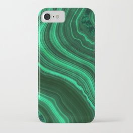Malachite Texture 08 iPhone Case