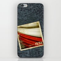 poland iPhone & iPod Skins featuring STICKER OF POLAND flag by Lulla