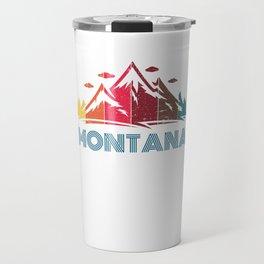 Retro Montana Design for Men Women and Kids Travel Mug