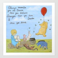 winnie the pooh Art Prints featuring Winnie the Pooh by Marilyn Rose Ortega
