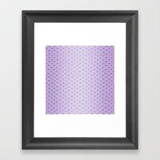 Purple Mermaid Scales - Mermaid Life Framed Art Print