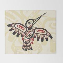 Salish Coast Humming Bird Throw Blanket