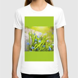 Scilla siberica flowerets named wood squill T-shirt