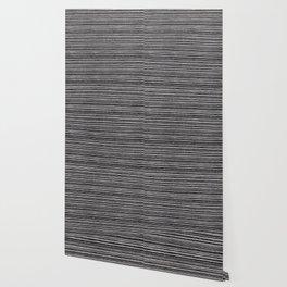 Modern black white geometrical stripes pattern Wallpaper