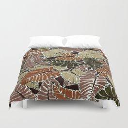 50's bongo leaf Duvet Cover