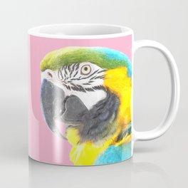 Macaw Portrait Pink Background Coffee Mug