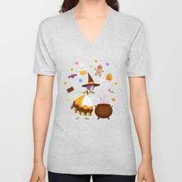 Sweet Candy Witch Unisex V-Neck