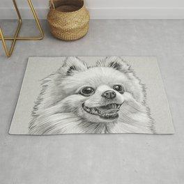 Smiling Dog (Pomeranian) Rug
