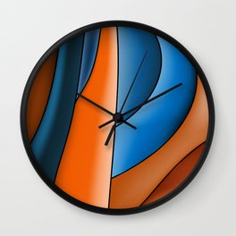 Lines Of Stained Glass Wall Clock
