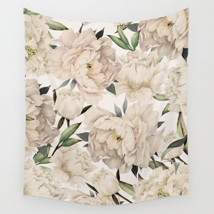 Peonies Pattern Wall Tapestry