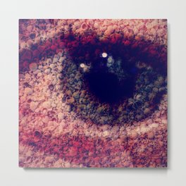 eye sea shells Metal Print