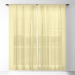 Bright Solid Retro Yellow - Color Therapy Sheer Curtain