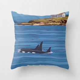 Vintage Poster - San Juan Islands National Monument, Washington (2015) Throw Pillow
